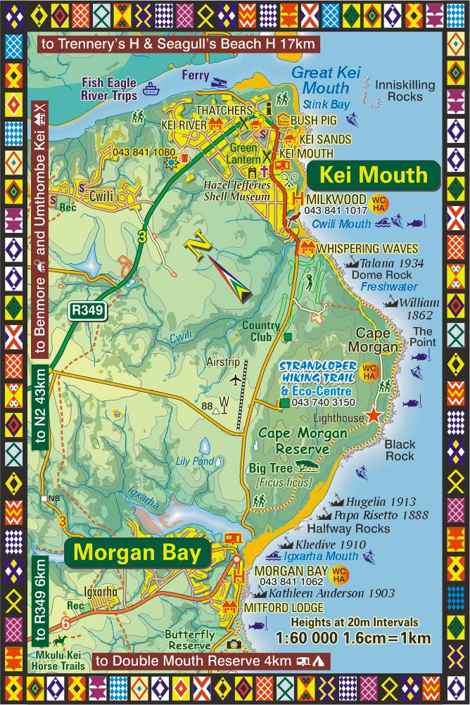 Kei Mouth  Morgan Bay Map  Wild Coast