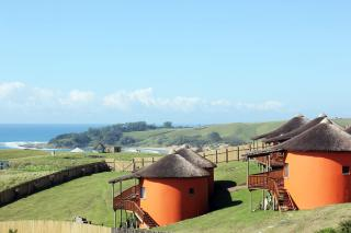 Swell Eco Lodge Wild Coast Transkei Mdumbi: View of Swell Eco Lodge Wild Coast Transkei Mdumbi