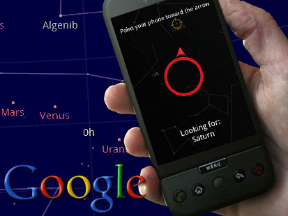 Google Sky Map + Smart Phone + Android = Astronomy for dummies ... on