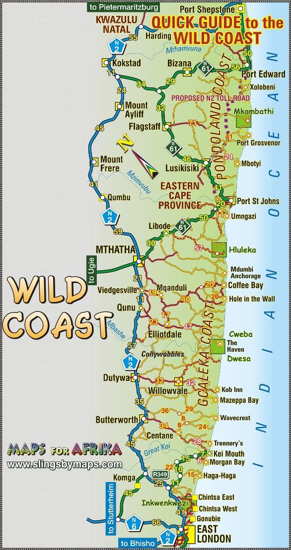 Map of the Wild Coast | Wild Coast