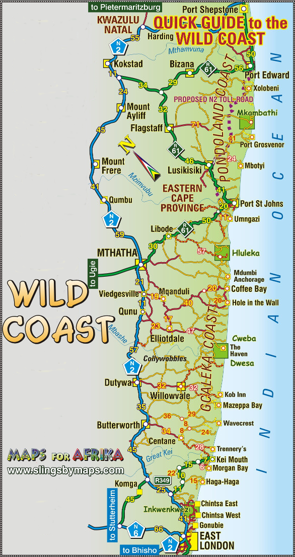 Map  Wild Coast