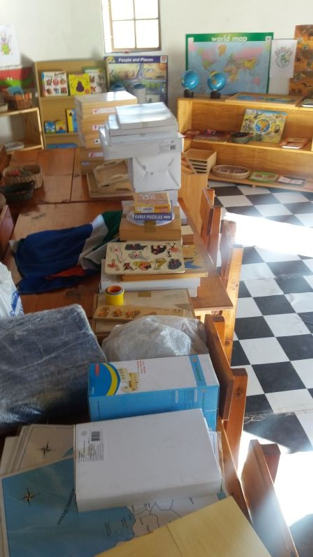 Brand new Montessori materials donated by Garden Road Montessori