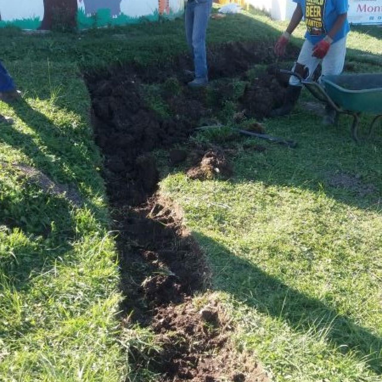 Digging of foundations at Ncinci One's Montessori
