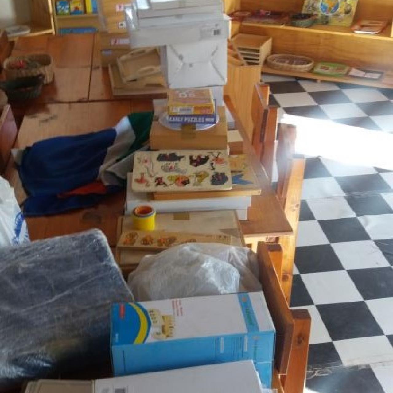Brand new Montessori materials donated by Garden Road Montessori