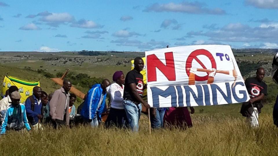 No Mining Protest 2008